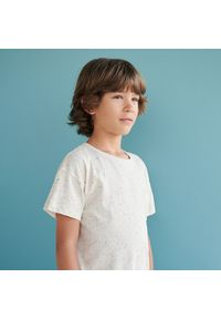 Reserved - Melanżowy t-shirt - Beżowy. Kolor: beżowy. Wzór: melanż