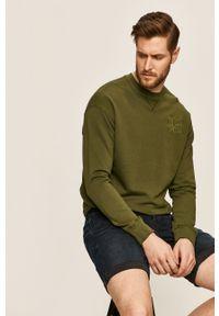 Zielona bluza nierozpinana Russell Athletic casualowa, na co dzień, z aplikacjami