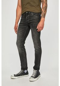 Szare jeansy Jack & Jones z aplikacjami