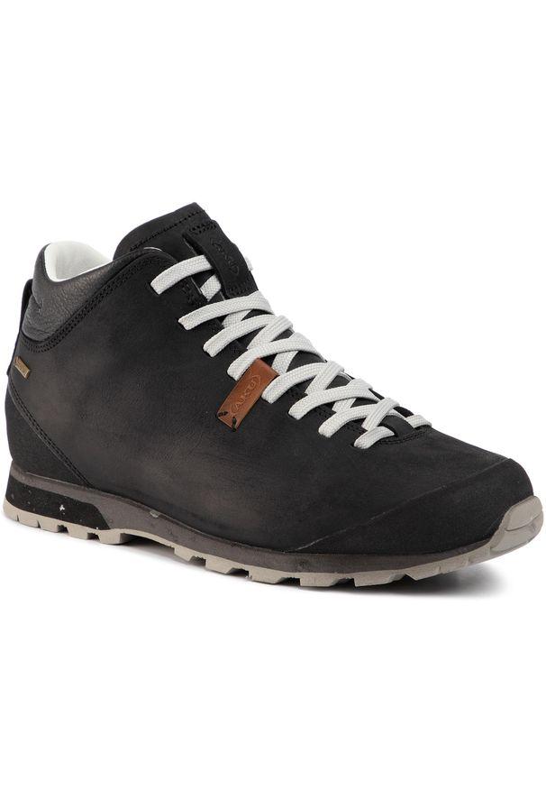 Czarne buty trekkingowe Aku trekkingowe, z cholewką, Gore-Tex