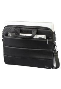Czarna torba na laptopa hama w kolorowe wzory, wizytowa
