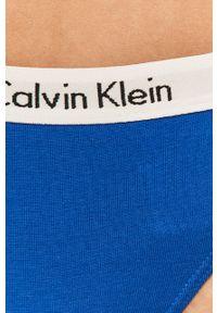 Niebieskie majtki Calvin Klein Underwear z nadrukiem