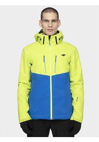 4f - Kurtka narciarska męska 4FPro. Kolor: zielony. Materiał: mesh, materiał. Technologia: Dermizax. Sezon: zima. Sport: narciarstwo