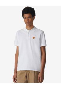 Kenzo - KENZO - Koszulka polo Tiger Crest. Okazja: na co dzień. Typ kołnierza: polo. Kolor: biały. Materiał: bawełna. Wzór: aplikacja. Styl: klasyczny, casual