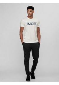 4f - Spodnie dresowe męskie. Kolor: czarny. Materiał: dresówka
