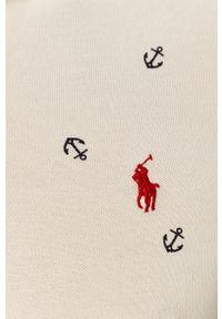Polo Ralph Lauren - Polo. Typ kołnierza: polo. Kolor: biały. Materiał: dzianina. Długość: krótkie