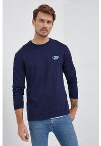 Lacoste - Longsleeve bawełniany. Okazja: na co dzień. Kolor: niebieski. Materiał: bawełna. Długość rękawa: długi rękaw. Wzór: gładki. Styl: casual