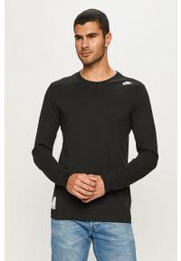 Czarna koszulka z długim rękawem Nike Sportswear z nadrukiem, na co dzień, casualowa