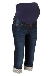 Czarne jeansy bonprix moda ciążowa, na lato