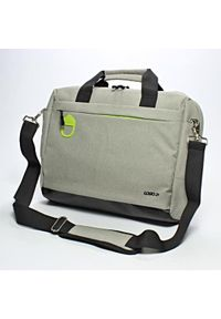 Szara torba na laptopa Logo