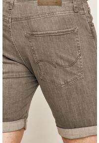 Jack & Jones - Szorty jeansowe 12166861. Okazja: na co dzień. Kolor: szary. Materiał: jeans. Styl: casual