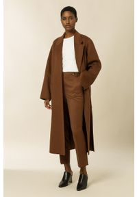 IVY & OAK - Płaszcz Celia. Okazja: na co dzień. Kolor: brązowy. Materiał: materiał, wełna. Styl: casual