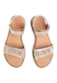 Złote sandały Froddo casualowe, na lato, z aplikacjami, na co dzień #6