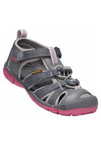 keen - Sandały dla dzieci Keen Seacamp II 1020702. Zapięcie: pasek. Materiał: guma, materiał, poliester. Wzór: paski. Styl: młodzieżowy