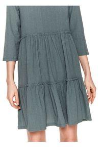 Zielona sukienka TOP SECRET casualowa, koszulowa