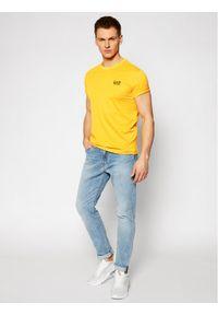 Żółty t-shirt EA7 Emporio Armani