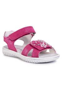 Różowe sandały Superfit na co dzień, z aplikacjami, casualowe
