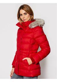 Czerwona kurtka zimowa TOMMY HILFIGER