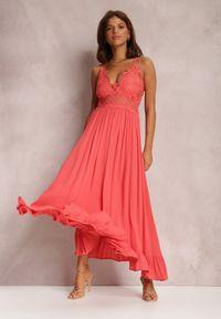 Renee - Koralowa Sukienka Rozanna. Kolor: pomarańczowy