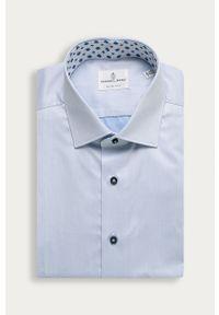 Niebieska koszula Emanuel Berg długa, klasyczna