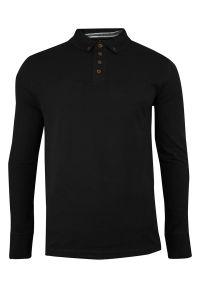 Czarny t-shirt Brave Soul długi, polo, z długim rękawem