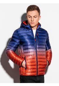 Fioletowa kurtka Ombre Clothing na wiosnę