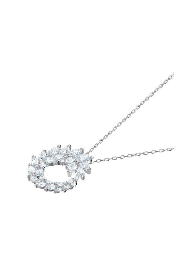 Srebrny naszyjnik Swarovski ze stali, z kryształem