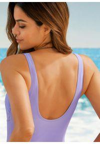 Fioletowy strój kąpielowy jednoczęściowy bonprix