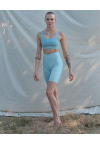 GIRLFRIEND COLLECTIVE - Niebieski top Tommy Sky. Kolor: niebieski. Materiał: tkanina, poliester. Długość rękawa: na ramiączkach. Wzór: ze splotem. Styl: sportowy