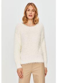 Biały sweter Patrizia Pepe na co dzień, klasyczny, długi