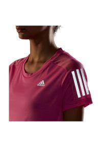 Adidas - Koszulka damska do biegania adidas Own The Tee GJ9986. Materiał: skóra, poliester, materiał. Długość rękawa: krótki rękaw. Długość: krótkie. Sport: fitness