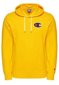 Champion Bluza Satin C Logo 214184 Żółty Comfort Fit. Kolor: żółty
