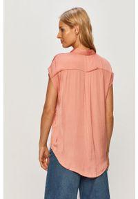 Różowa koszula Jacqueline de Yong na co dzień, krótka, casualowa