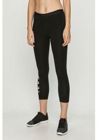 Czarne legginsy DSQUARED2 z podwyższonym stanem, z nadrukiem