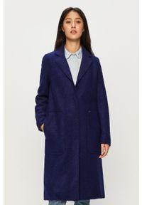 Niebieski płaszcz only na co dzień, bez kaptura, casualowy
