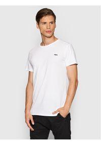 Tigha T-Shirt Hein 104889 Biały Regular Fit. Kolor: biały