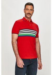 Czerwona koszulka polo Polo Ralph Lauren krótka, casualowa, polo, na co dzień
