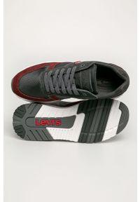 Szare sneakersy Levi's® z cholewką, na sznurówki