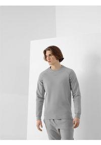 Szara bluza nierozpinana 4f na co dzień, z nadrukiem