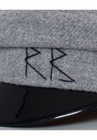 RUSLAN BAGINSKIY - Szary kaszkiet z wełny. Kolor: szary. Materiał: wełna. Styl: elegancki