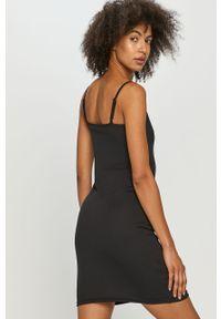 Czarna sukienka Fila na co dzień, casualowa, dopasowana, mini