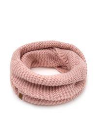 BRODRENE - Komin damski pudrowy róż k5 brodrene 9946-ROSE. Kolor: różowy. Materiał: materiał
