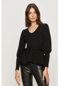 Czarny sweter Silvian Heach z długim rękawem, klasyczny
