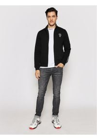 Karl Lagerfeld - KARL LAGERFELD Bluza 705021 511900 Czarny Regular Fit. Typ kołnierza: dekolt w karo. Kolor: czarny