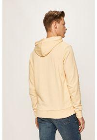 Żółta bluza nierozpinana Jack & Jones na co dzień, z nadrukiem, z kapturem, casualowa