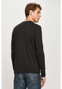 Czarna koszulka z długim rękawem Napapijri z nadrukiem, casualowa