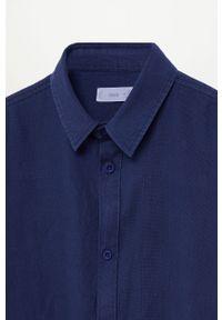 Niebieska koszula Mango Kids casualowa, na co dzień, długa