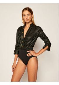 Czarna bluzka body Elisabetta Franchi