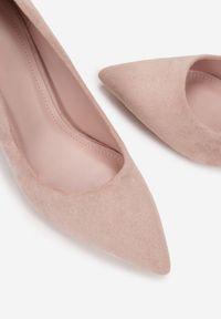 Renee - Różowe Szpilki Mereria. Kolor: różowy. Obcas: na szpilce