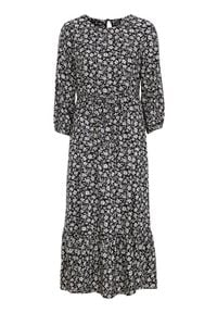 Happy Holly Wzorzysta sukienka z wiskozy Annie Czarny we wzory female czarny/ze wzorem 40/42. Kolor: czarny. Materiał: wiskoza